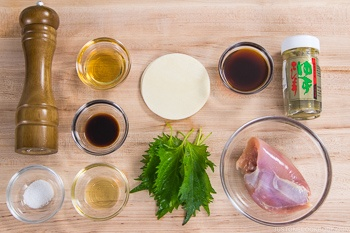 Chicken Shiso Gyoza Ingredients