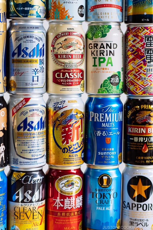 Japanese beer collection - Guide for Japanese Beer | www.justonecookbook.com