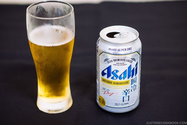 Asahi Shunrei Karakuchi - Guide for Japanese Beer | www.justonecookbook.com