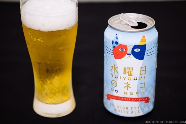 Suiyoubi No Neko Belgian Style White Ale - Guide for Japanese Beer | www.justonecookbook.com