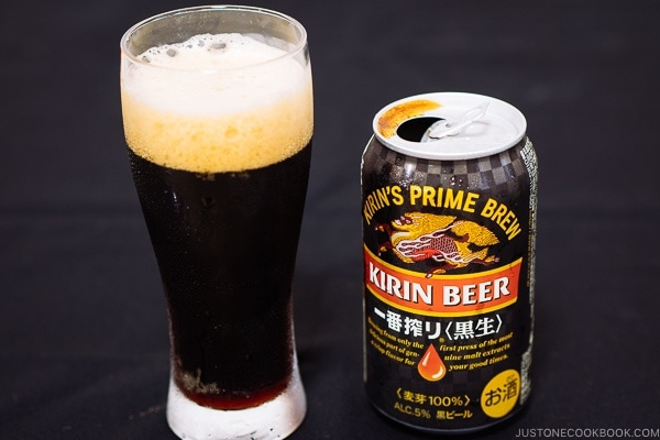 Kirin Beer Black Draft Kuronama - Guide for Japanese Beer | www.justonecookbook.com