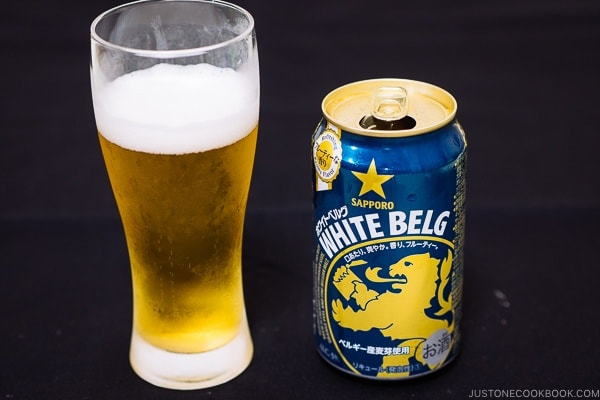 Sapporo White Belg - Guide for Japanese Beer | www.justonecookbook.com