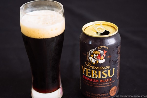 Yebisu Premium Black - Guide for Japanese Beer | www.justonecookbook.com