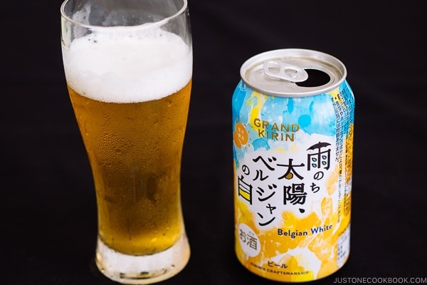 Grand Kirin Belgiam White - Guide for Japanese Beer | www.justonecookbook.com