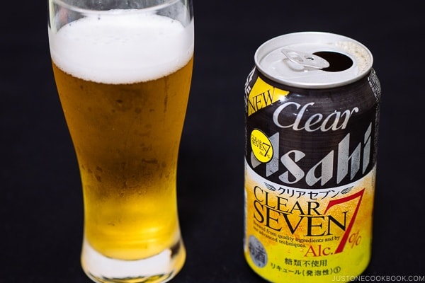 Asahi Clear 7 - Guide for Japanese Beer | www.justonecookbook.com