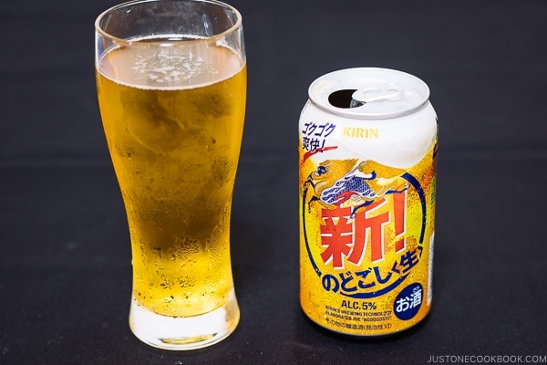 Kirin Nodogoshi Nama - Guide for Japanese Beer | www.justonecookbook.com