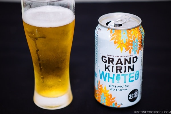 Grand Kirin White - Guide for Japanese Beer | www.justonecookbook.com