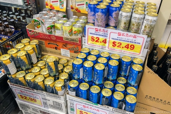 Japanese beer in Nijiya Market - Guide for Japanese Beer | www.justonecookbook.com
