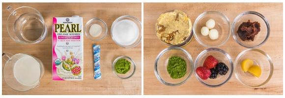 Matcha Vegan Panna Cotta Ingredients