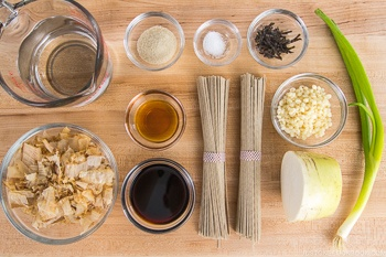 Oroshi Soba Ingredients