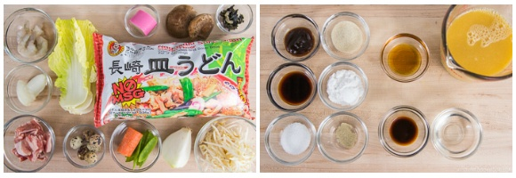 Sara Udon Ingredients