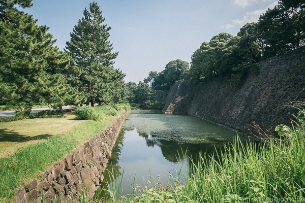 the moat at The East Gardens of the Imperial Palace