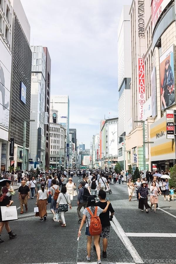 Ginza Hokōsha Tengoku - Tokyo Ginza Travel Guide | www.justonecookbook.com