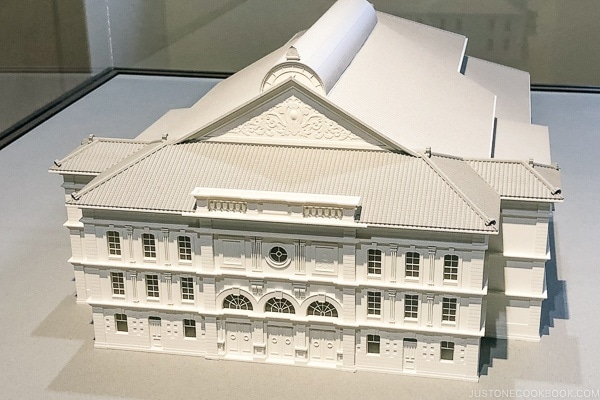 model of previous Kabukiza Theater - Tokyo Ginza Travel Guide | www.justonecookbook.com