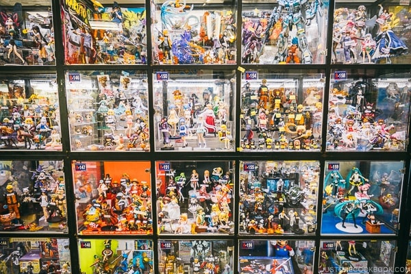 hobby store with anime figurine near Akihabara Station - Akihabara Travel Guide | www.justonecookbook.com