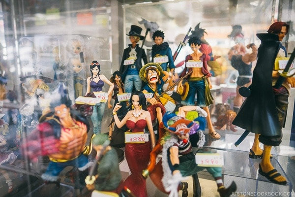 anime figurine inside display case - Akihabara Travel Guide | www.justonecookbook.com