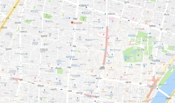 Google Map Kappabashi Kitchenware Town