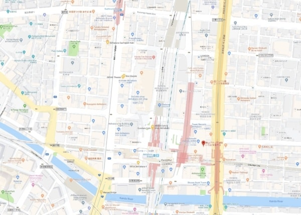 Google Maps Akihabara