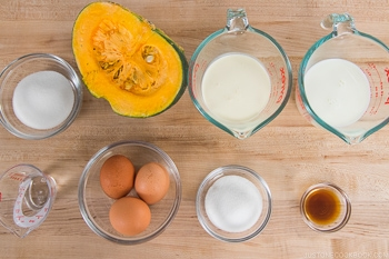 Instant Pot Kabocha Flan Ingredients