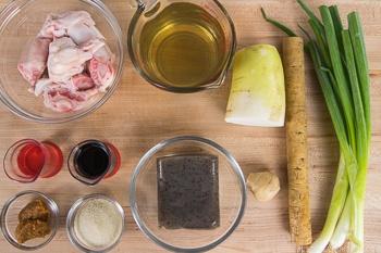 Japanese Beef Tendon Stew Ingredients