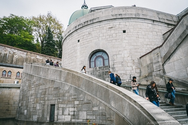 staircase outside St.Joseph's Oratory - Montreal Travel Guide | www.justonecookbook.com