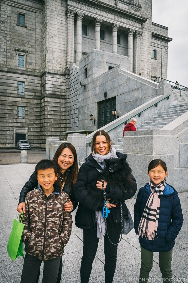 Just One Cookbook family with reader at the Basilica at St.Joseph's Oratory - Montreal Travel Guide | www.justonecookbook.com