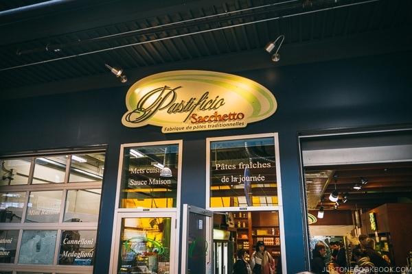 pasta shop at Marche Jean-Talon - Montreal Travel Guide   www.justonecookbook.com