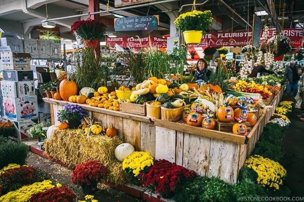 produce stand at Marche Jean-Talon - Montreal Travel Guide   www.justonecookbook.com