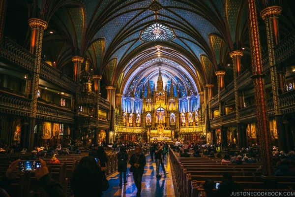 Notre-Dame Basilica of Montreal - Montreal Travel Guide | www.justonecookbook.com