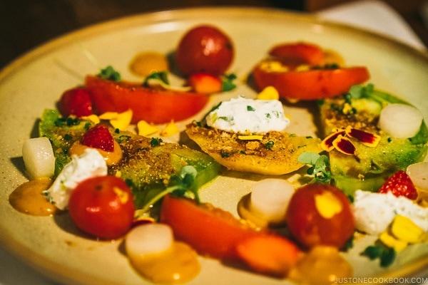 tomato dish at BOUILLON BILK - Montreal Travel Guide   www.justonecookbook.com