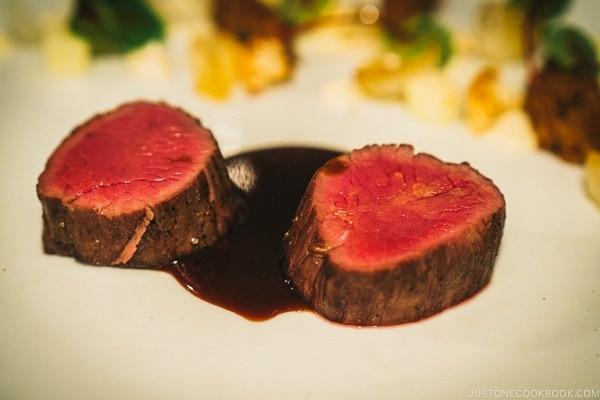 venison dish at BOUILLON BILK - Montreal Travel Guide   www.justonecookbook.com