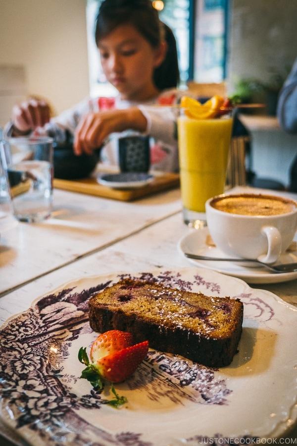 raspberry bread at Restaurant Mélisse - Montreal Travel Guide   www.justonecookbook.com