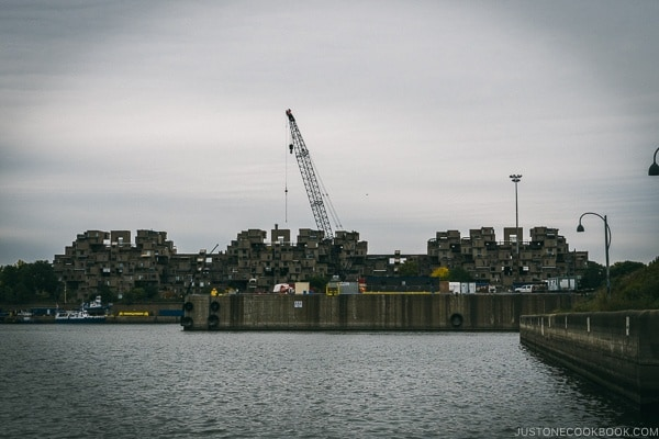 Habitat 67 from Bota Spa - Montreal Travel Guide | www.justonecookbook.com