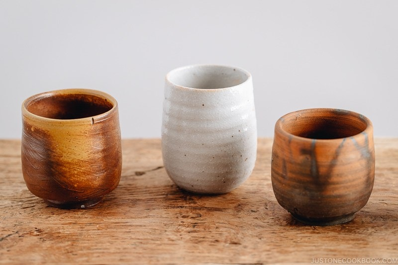 Yunomi, Japanese tea cups