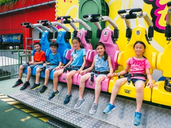 children on bunbun ride - Tokyo Dome City | www.justonecookbook.com