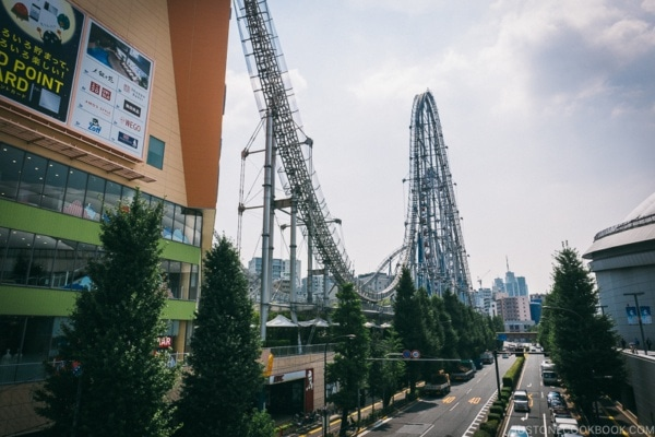 Thunder Dolphin roller coaster at Tokyo Dome City - Tokyo Dome City | www.justonecookbook.com