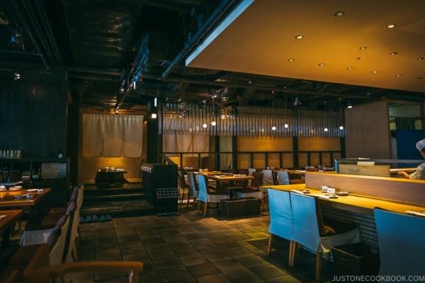 interior of shunpu banri restaurant - Tokyo Dome City | www.justonecookbook.com