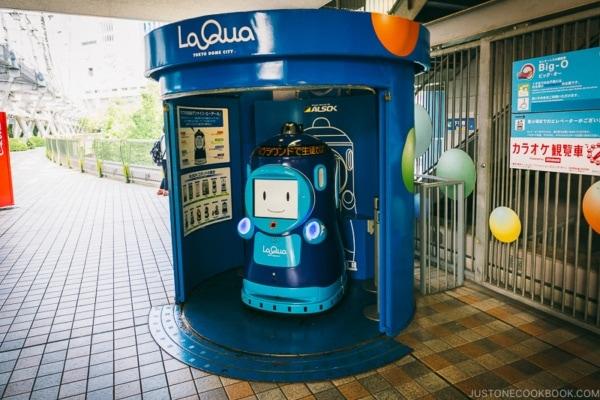 La Qua ALSOK security robots - Tokyo Dome City | www.justonecookbook.com