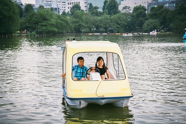 Just One Cookbook children boating in Ueno Park - Tokyo Ueno Travel Guide | www.justonecookbook.com
