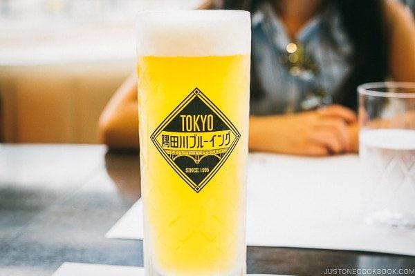 Sumida brewery beer at Ueno Seiyoken restaurant - Tokyo Ueno Travel Guide | www.justonecookbook.com