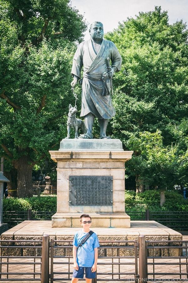 Saigo Takamori Statue - Tokyo Ueno Travel Guide | www.justonecookbook.com