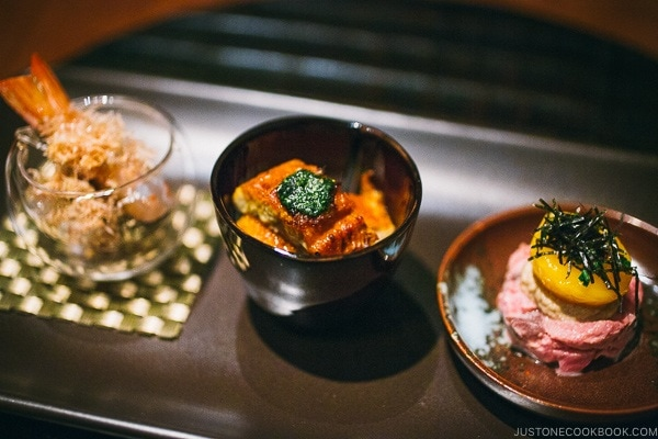 assorted appetizer - Wakuriya Restaurant Review | www.justonecookbook.com