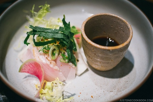 fish with ponzu sauce - Wakuriya Restaurant Review | www.justonecookbook.com