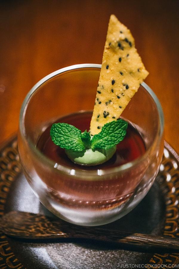 sesame cookie with sweet potato mousse - Wakuriya Restaurant Review | www.justonecookbook.com