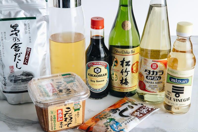 japanese cooking ingredients and pantry essentials