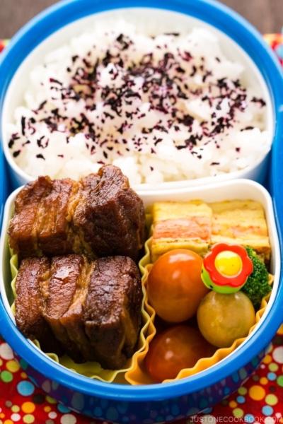 Braised Pork Belly Bento | www.justonecookbook.com