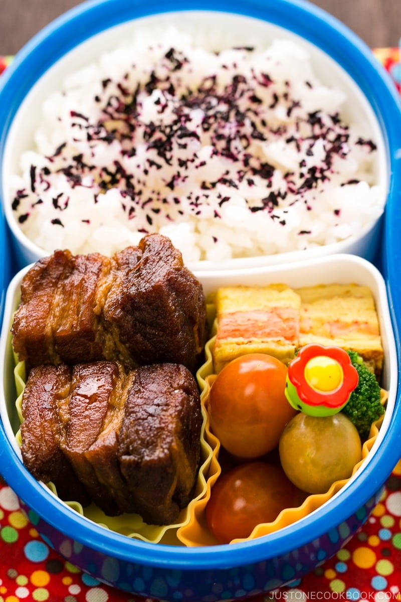 Braised Pork Belly Bento | www.justonecookbook.com