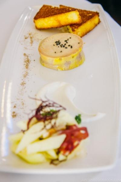 foie gras appetizer at Cetrella Half Moon Bay | www.justonecookbook.com