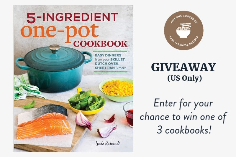 '5-Ingredient One-Pot Cookbook' Giveaway (US Only)