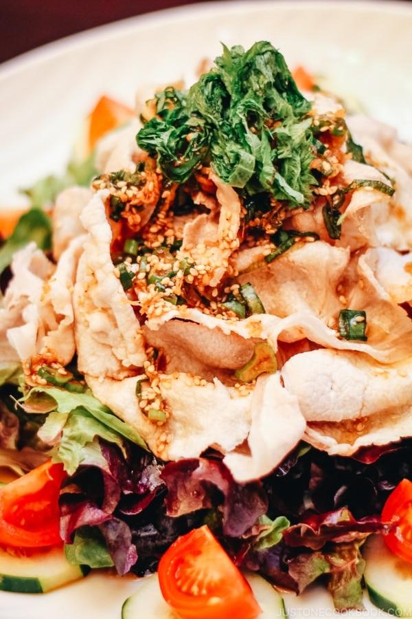 Pork Shabu Salad with Ponzu Dressing | www.justonecookbook.com